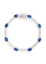 Cz By Kenneth Jay Lane Cubic Zirconia Cabochon Bracelet Metallic Blue