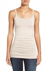 Petite Women's Halogen Long Layering Tank Tan Memoir