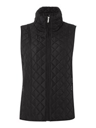 Tigi Diamond Quilt Gilet Black