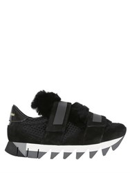 Dolce And Gabbana 30Mm Double Straps Lapin Sneakers