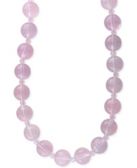Effy Rose Quartz 4 And 12Mm Beaded Collar Necklace In 14K Gold Yellow Gold