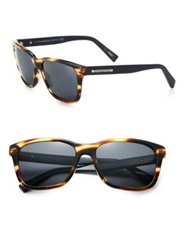 Ermenegildo Zegna 57Mm Square Sunglasses Havana