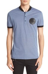 Versace Men's Baseball Collar Pique Polo