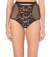Else Petunia High Waisted Lace Briefs Black