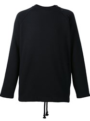 Death To Tennis Side Button Long Sleeve Top Black