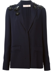 Marni Sequin Detail Blazer Blue