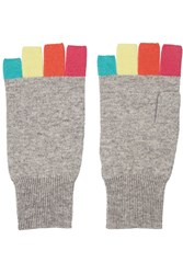 Autumn Cashmere Cashmere Fingerless Gloves Multi