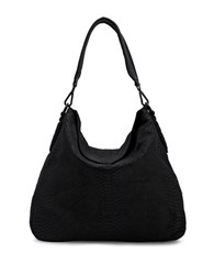 Liebeskind Yokohama B Leather Hobo Bag Black