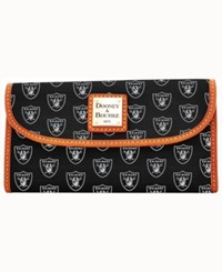 Dooney And Bourke Oakland Raiders Clutch Black