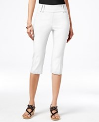 Styleandco. Style Co. Pull On Cropped Capris Only At Macy's Bright White