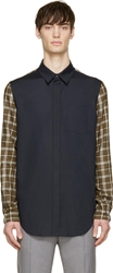 3.1 Phillip Lim Navy Contrast Sleeve Shirt