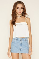 Forever 21 Cutout Crochet Cropped Cami