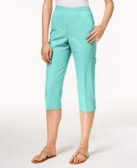 Alfred Dunner Pull On Cropped Pants Mint