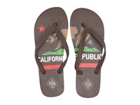 Freewaters Tommy Print Brown California Flag Men's Shoes