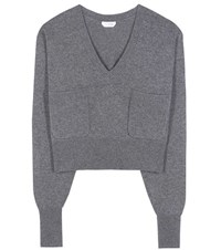 Chloe Cashmere Knitted Sweater Grey