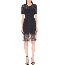 Whistles Ailsa Lace Dress Navy