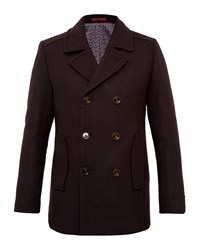 Ted Baker Biza Wool Peacoat Red