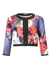 James Lakeland Floral Print Bolero Navy