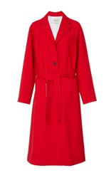 Sea Red Belted Sundry Wool Overcoat