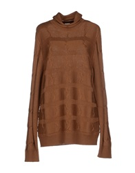 Armani Collezioni Turtlenecks Brown