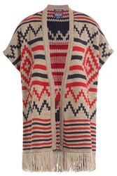 Woolrich Printed Cape With Alpaca And Wool Multicolor