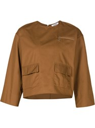 Nomia Patch Pocket Top Brown