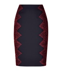 Ted Baker Queeny Lace Trim Pencil Skirt Female Navy