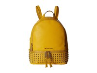 Michael Michael Kors Rhea Zip Small Studded Backpack Sunflower Backpack Bags Yellow