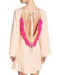 Sundress Coral Indiana Basic Dress Swim Cover Up Coral Neon Coral