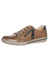 Pier One Trainers Cognac Navy