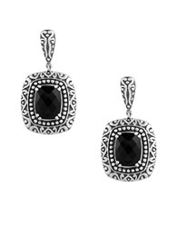 Effy Eclipse Sterling Silver And Onyx Drop Earrings Black