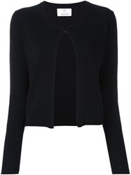 Allude Cropped Cardigan Black