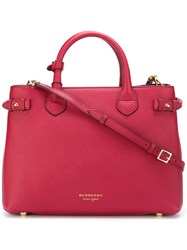 Burberry 'Banner' Tote Red