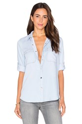 7 For All Mankind Denim Button Up Blue