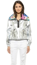 Just Cavalli Funnel Neck Jacket Silver