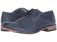 Lotus Hanbury Navy Leather Men's Lace Up Cap Toe Shoes Blue
