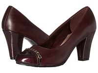 Soft Style Calina Sassafras Vitello Pearlized Patent Women's 1 2 Inch Heel Shoes Brown