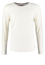 Tom Tailor Denim Basic Fit Long Sleeved Top Soft Beige Solid Off White