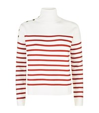 Maje Montauban Short Sailor Jumper Female White
