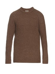 Acne Studios Kas Crew Neck Ribbed Sweater Beige