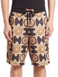Versace Printed Cotton Shorts Multi