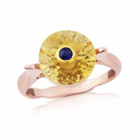 Maiko Nagayama Citrine And Sapphire Pink Gold Ring Blue Rose Gold Yellow