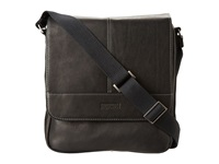 Kenneth Cole Reaction Columbian Leather Vertical Flapover Tablet Case Black Messenger Bags