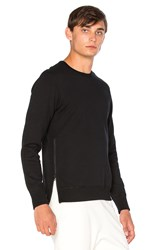 Reigning Champ Side Zip L S Crewneck Black