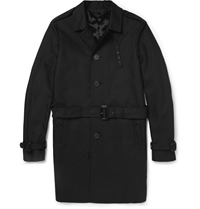 Burberry Single Breasted Cotton Gabardine Trench Coat Black