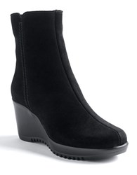 La Canadienne Greson Wedge Boots Black Suede