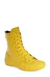 Women's Converse Chuck Taylor All Star Hi Rise Water Resistant Rubberized Boot Yellow Bird