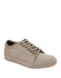 Gbx Mono Canvas Lace Up Sneakers Taupe