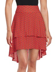 1.State Printed Tiered Skirt