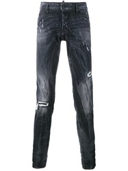 Dsquared2 Ripped Detail Jeans Grey